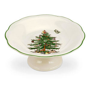 Spode Christmas Tree Sculptured Footed Candy Dish (18cm) - LAST FEW AVAILABLE!