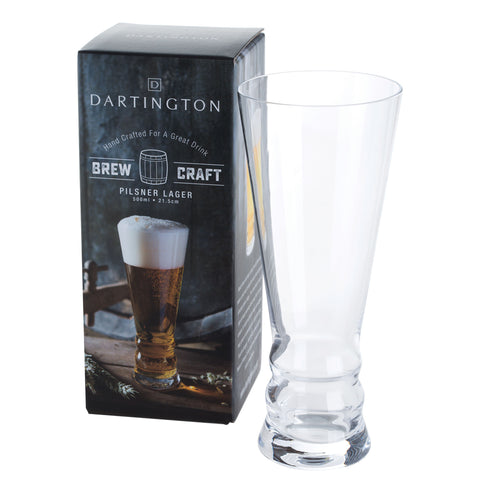 Dartington Glasses Brew Craft Pilsner Lager (215mm/52cl)