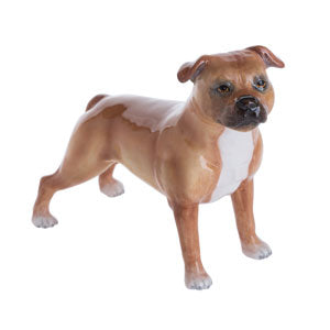 John Beswick Dogs Staffordshire Bull Terrier Red