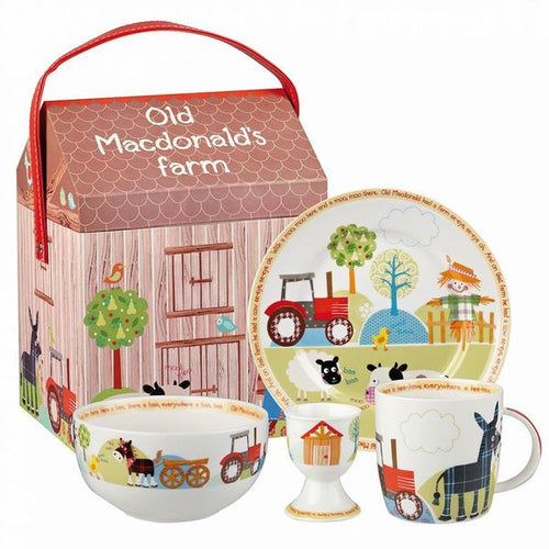 Old MacDonald's Farm 4 Piece Breakfast Set