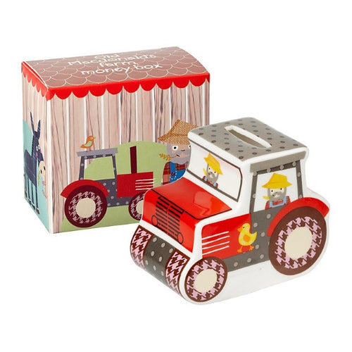 Old MacDonald's Farm Tractor Money Box (H7.5cm x D9.5cm x W5.5cm)