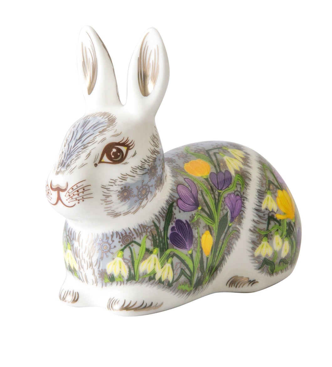 Royal Crown Derby Paperweights Springtime Bunny (8.5cm)