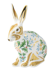 Royal Crown Derby Paperweights Winter Hare (13cm)