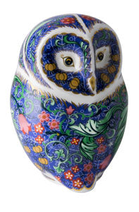 Royal Crown Derby Paperweights Periwinkle Owl