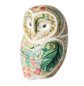 Royal Crown Derby Paperweights Parchment Owl