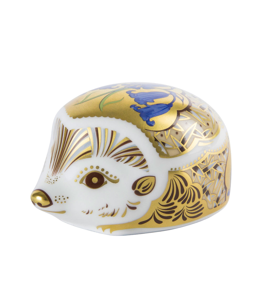 Royal Crown Derby Paperweights Hedgehog Bluebell (6.5cm) - LAST FEW AVAILABLE!