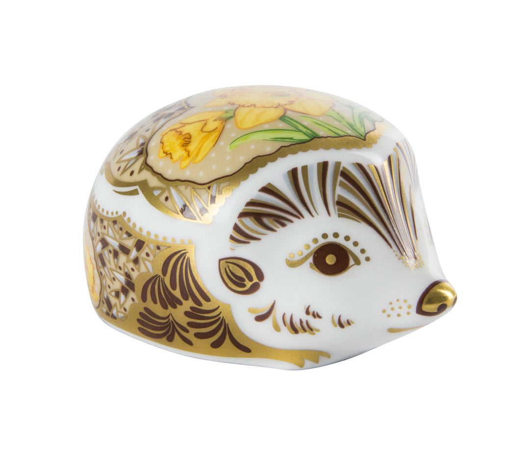 Royal Crown Derby Paperweights Hedgehog Daffodil (6.5cm) - LAST FEW AVAILABLE!