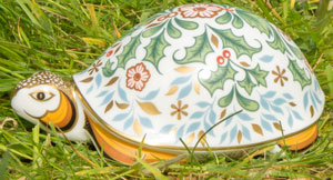 Royal Crown Derby Paperweights Winter Tortoise