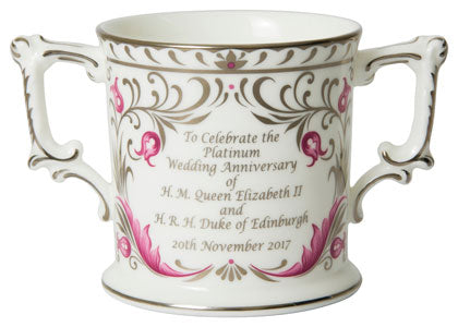 Royal Crown Derby 70th Wedding Anniversary Loving Cup Ltd Edn 500