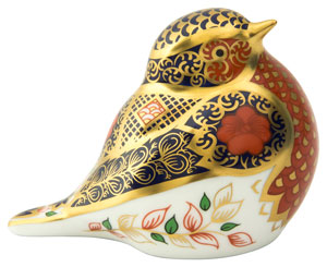 Royal Crown Derby Paperweights Old Imari Christmas Robin