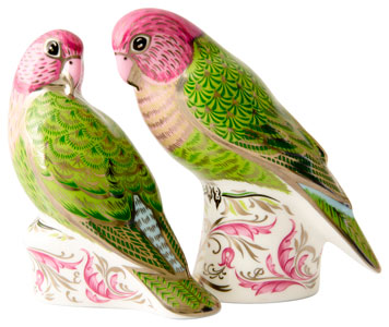 Royal Crown Derby 70th Wedding Anniversary Majestic Love Birds Pair Ltd Edn 500