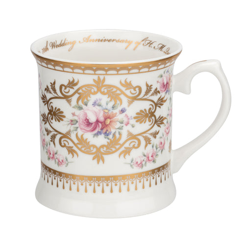 Royal Worcester 70th Wedding Anniversary Tankard (0.28Ltr)