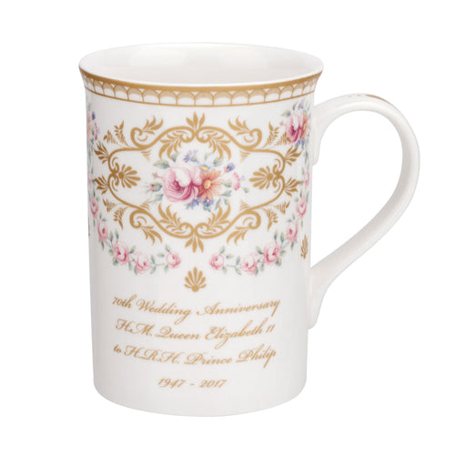 Royal Worcester 70th Wedding Anniversary Mug (0.33Ltr)