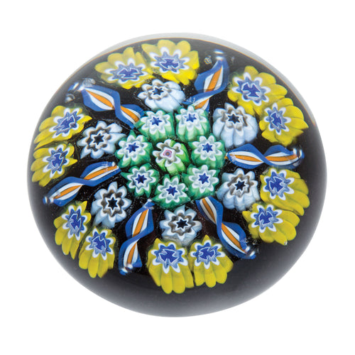 Caithness Millefiori Yellow Star (55mm)