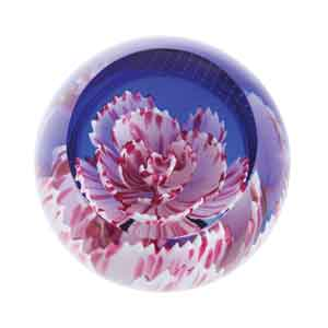 Caithness Glass Floral Charms Carnation