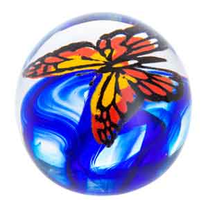 Caithness Glass Butterfly Flight of the Monarch