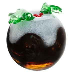 Caithness Glass Christmas Pud