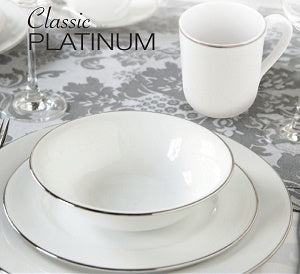 Royal Worcester Classic Platinum 16 Piece Dinner Set