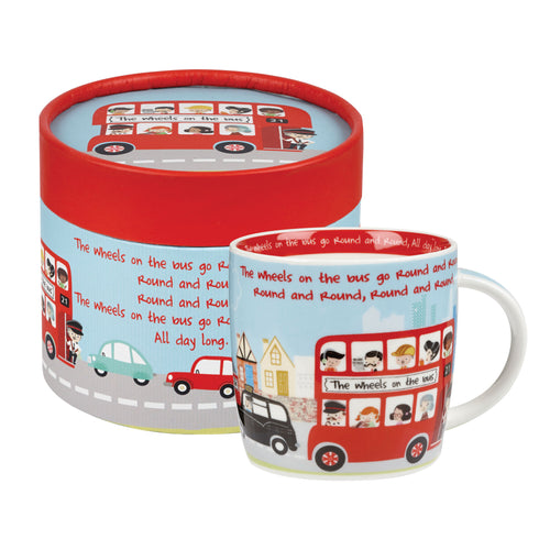 Wheels on the Bus Mug in Gift Hatbox