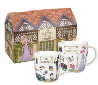 Churchill At Your Leisure Lordship & Ladyship Set of 2 Mugs (400ml)