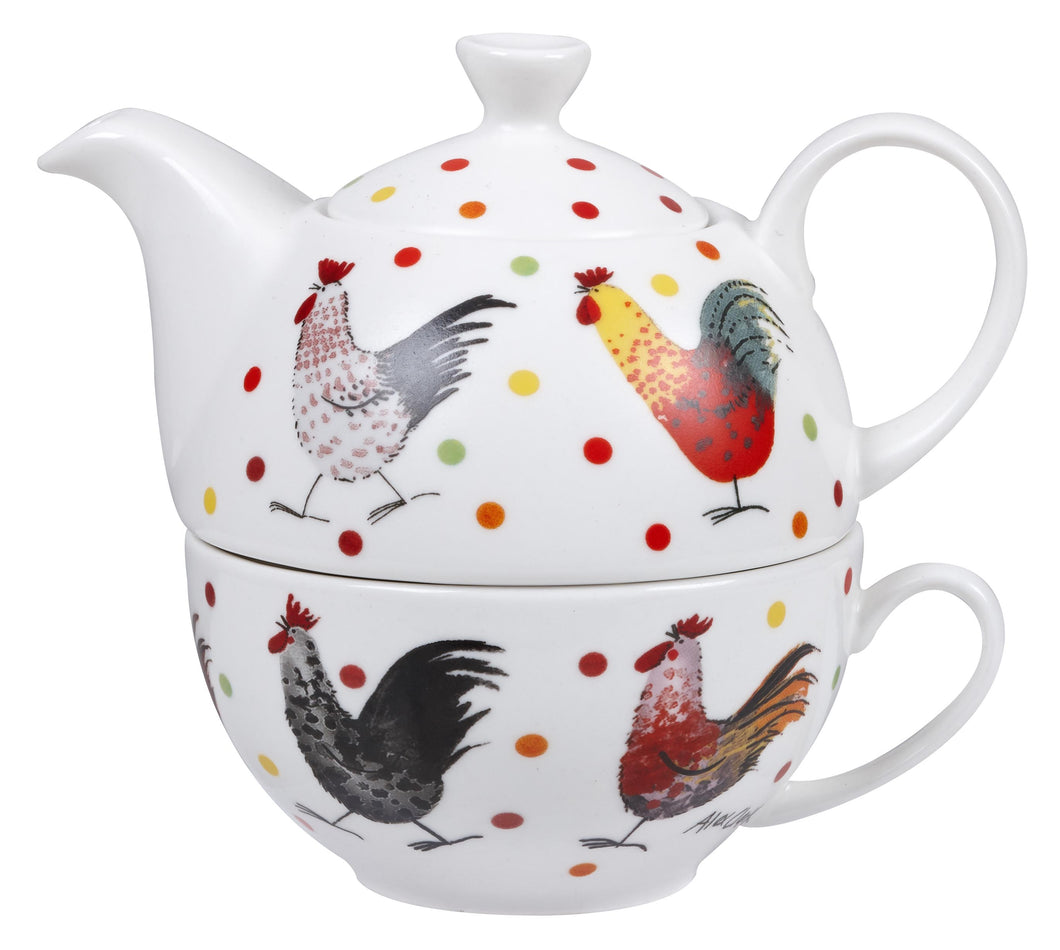 Churchill Rooster Tea for One