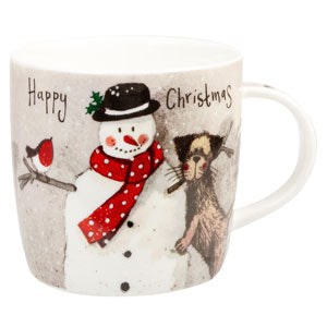 Churchill Snowman Mug - LAST FEW AVAILABLE!