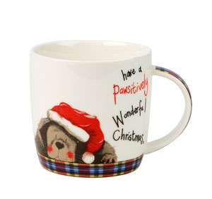 Churchill Pawsitively Merry Christmas Mug - LAST FEW AVAILABLE!