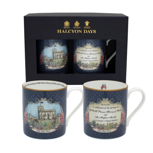Halcyon Days A Special Windsor Castle Wedding - Mug Set x 2 - LAST FEW AVAILABLE!