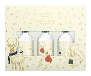 Wax Lyrical Festive Friends Fragranced Reed Diffuser Gift Set Box / 3