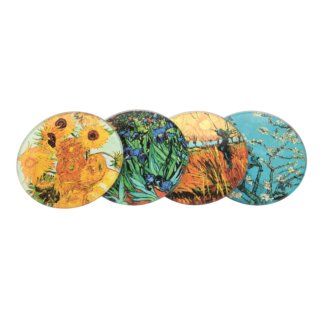 John Beswick Van Gogh Set of Four Coasters with Holder