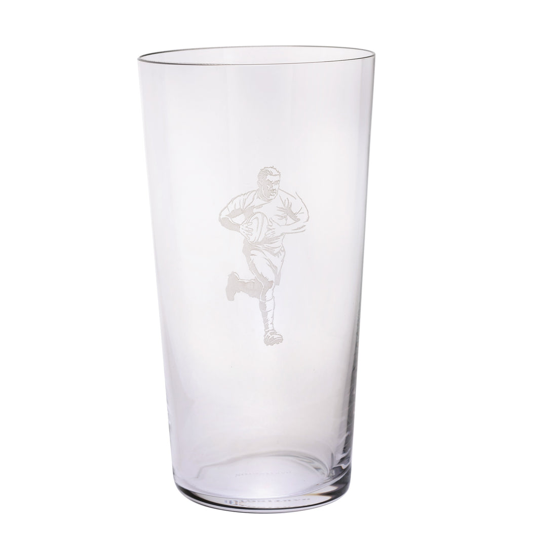 Dartington Sports & Occasions Rugby Pint Glass