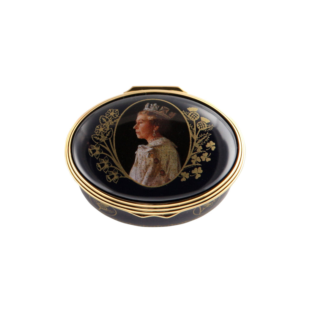 Halcyon Days 65th Anniversary of the Coronation - Enamel Box