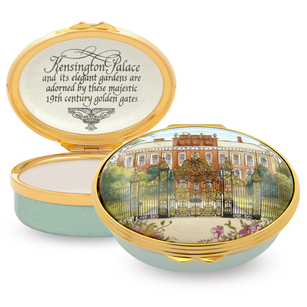 Halcyon Days HRP - Kensington Palace Box - Enamel Box - LAST FEW AVAILABLE!