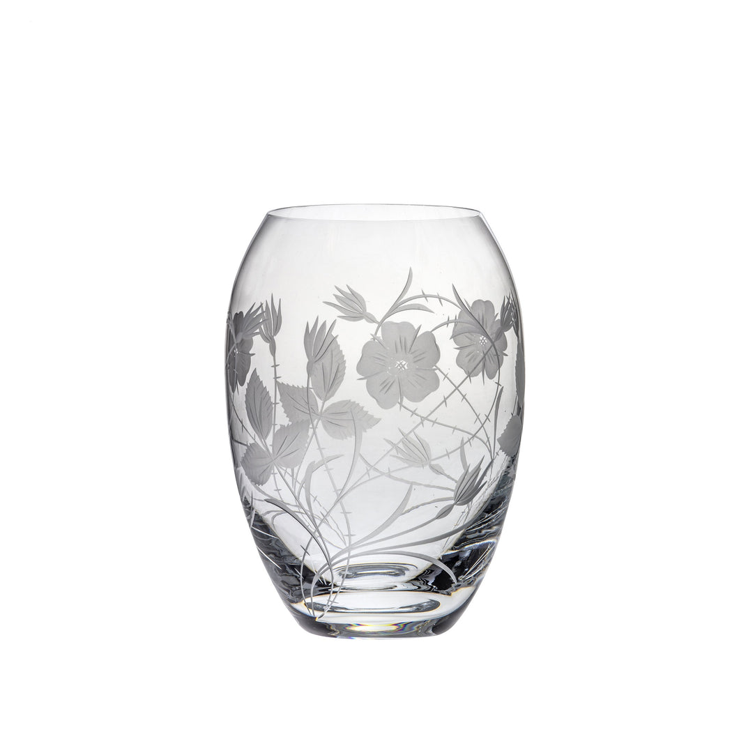 Royal Scot Crystal Medium Barrel Vase