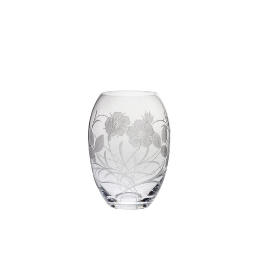 Royal Scot Crystal Small Barrel Vase