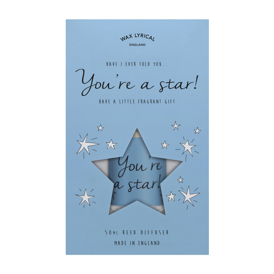 Wax Lyrical 50ml Reed Diffuser YOU'RE A STAR