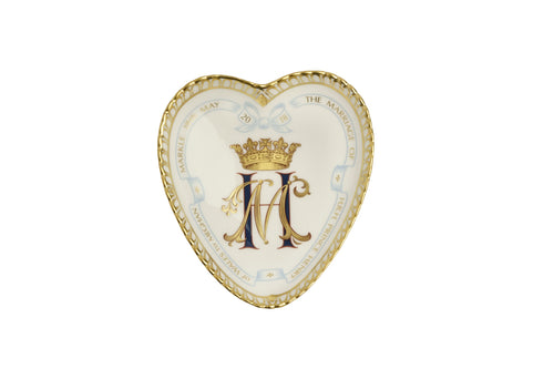 Royal Crown Derby Heart Tray - Harry & Meghan