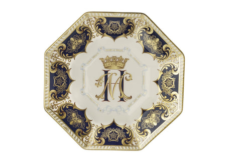 Royal Crown Derby Octagonal Plate - Harry & Meghan Ltd Edn 1,500