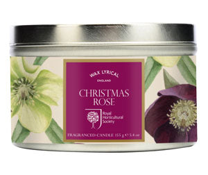 Wax Lyrical Fragranced Candle Tin Christmas Rose - LAST FEW AVAILABLE!