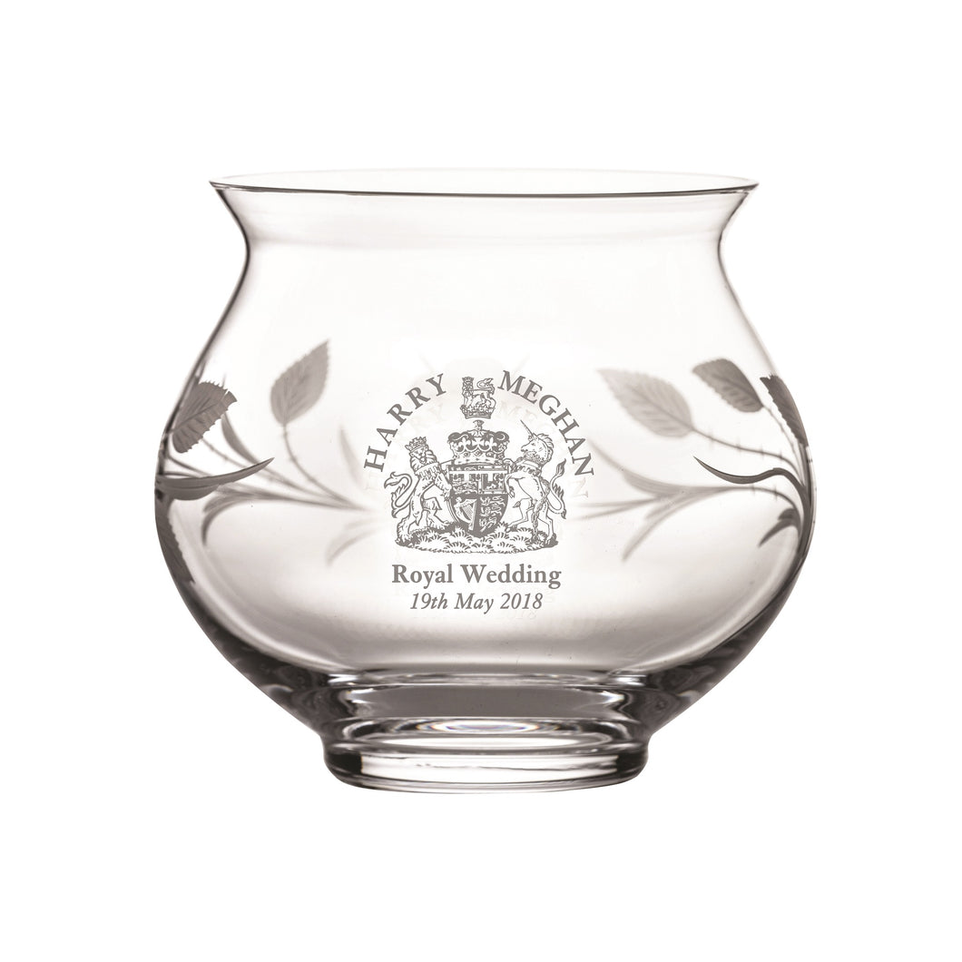 Royal Scot Crystal Votive Hand Cut Windsor - LAST FEW AVAILABLE!