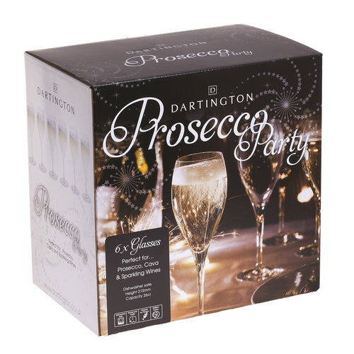 Dartington Party Pack Set of Six Prosecco Glasses