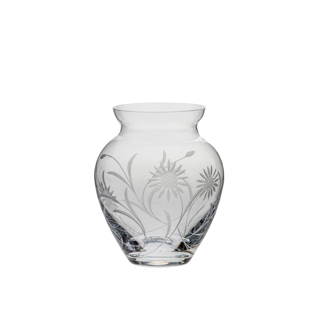 Royal Scot Crystal Large Posy Vase