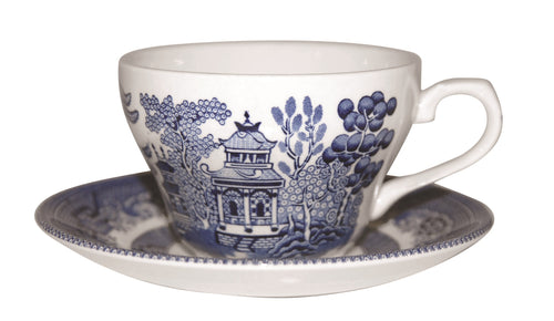 Churchill Blue Willow Teacup 200ml Set of 6