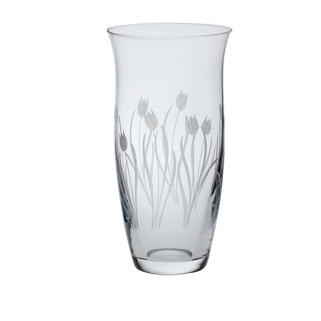 Royal Scot Crystal Large Tulip Vase