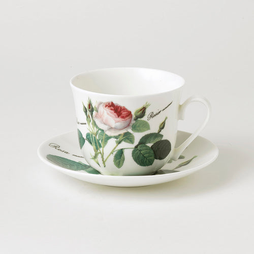 Roy Kirkham Redoute Rose Breakfast Cup & Saucer