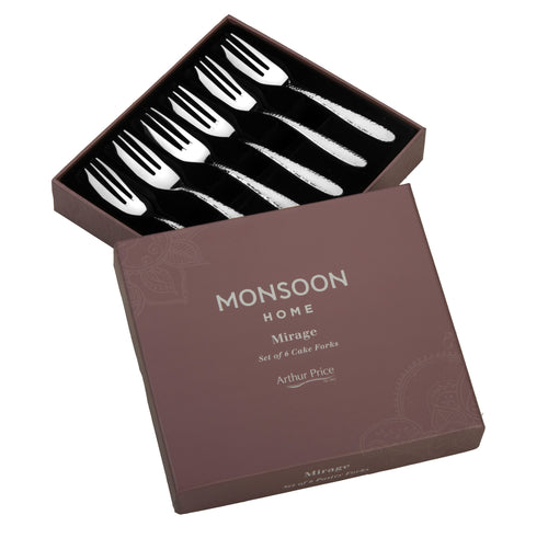 Arthur Price Monsoon Mirage Pastry Forks Set of 6