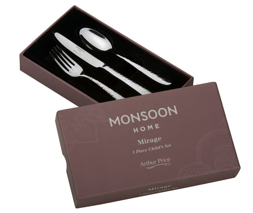 Arthur Price Monsoon Mirage 3 Piece Child's Cutlery Set