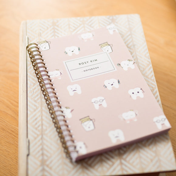 Personalized Lilac Notebook