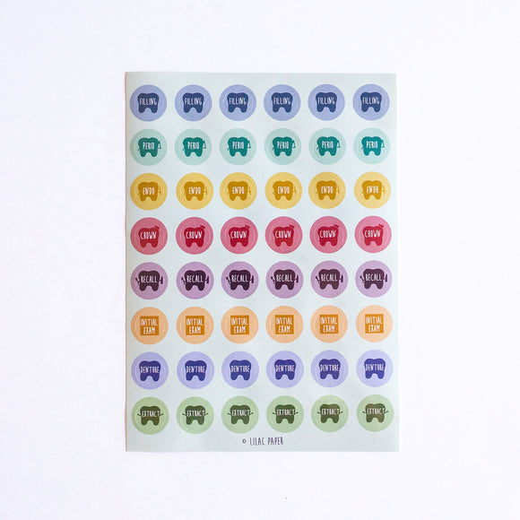 DENTAL CLINIC STICKERS