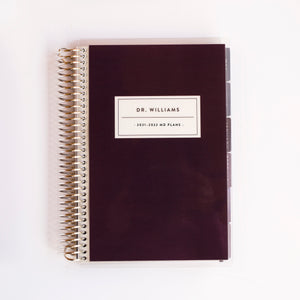 Medical / Nursing Planner - DARK CHERRY